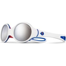 Julbo Loop Spectron 4 Occhiali da sole 2-4Y Bambino, white/blue/red-gray flash silver